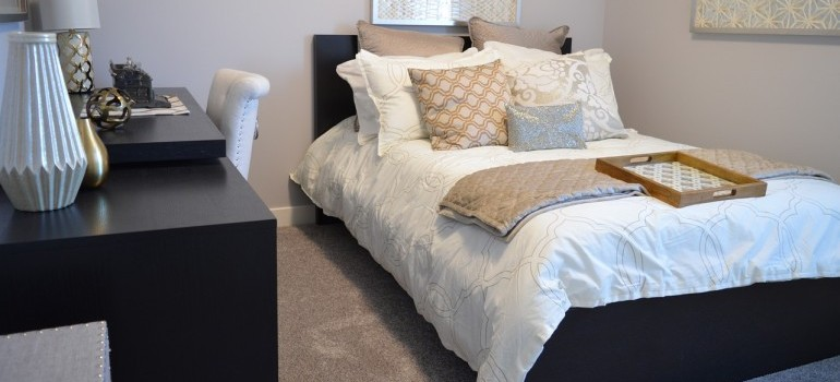 Bedroom furniture to be relocated by cross country movers Canada.