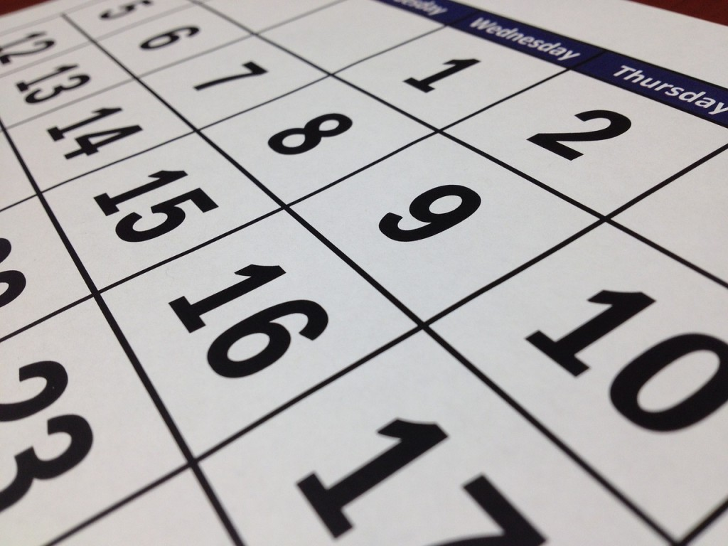 a calendar to use when moving from Calgary to Toronto.