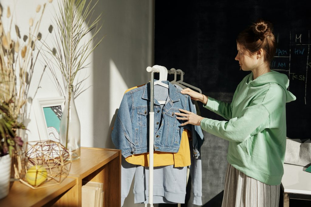 one of the most common items found in storage units - clothes