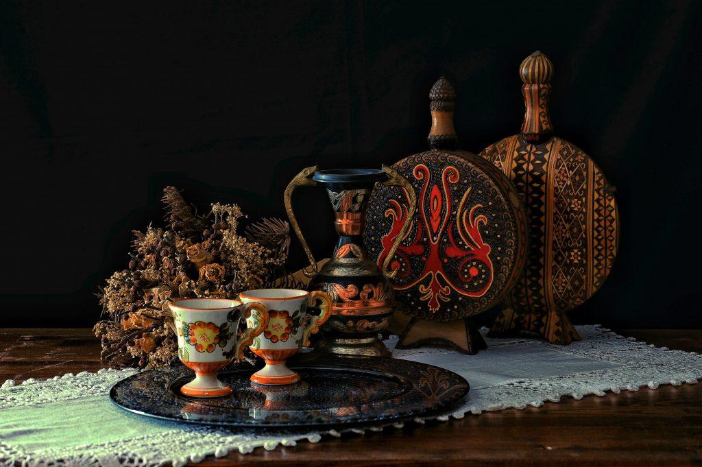antique drinking set