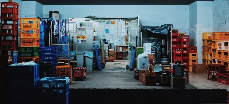 a warehouse full of items