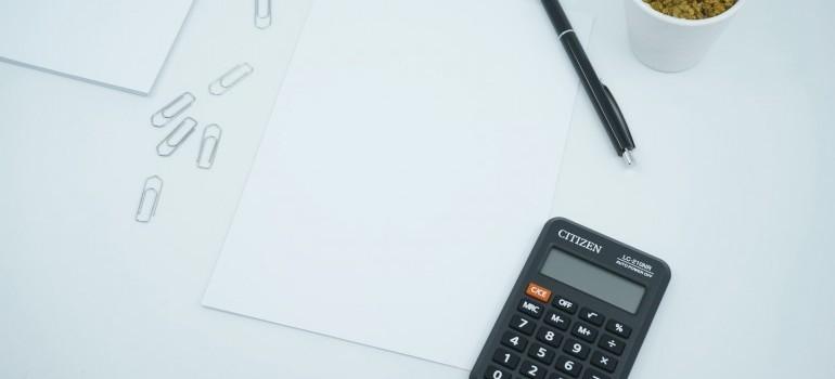 a calendar and pen