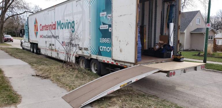 Centennial moving truck