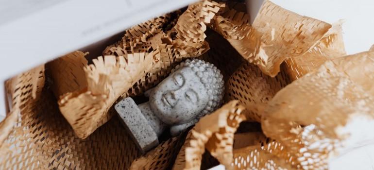 hand-packed figurine