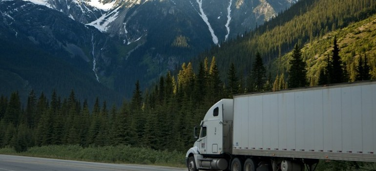 a truck moving from Toronto to Edmonton