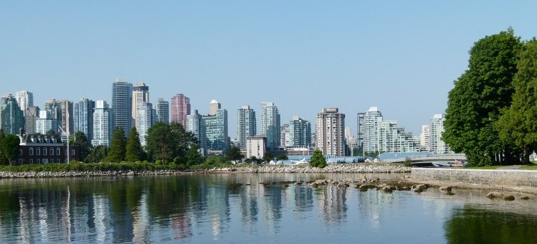 An aerial view of Vancouver.
