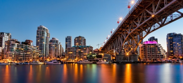 When leaving Toronto for a job, consider Vancouver business district with many major companies